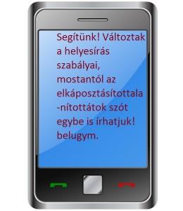 A nyelvtannáci sms!
