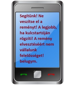 A reményteljes sms!
